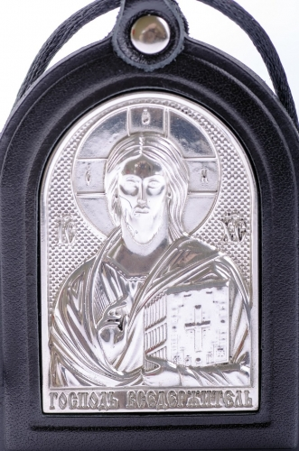 подвеска-икона   (двухсторонняя, кожа)