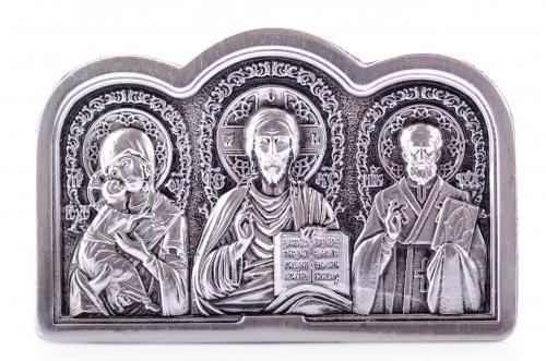 триптих с ликами святых (малый, без дерева)