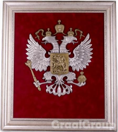 панно «Герб России» большой  VIP