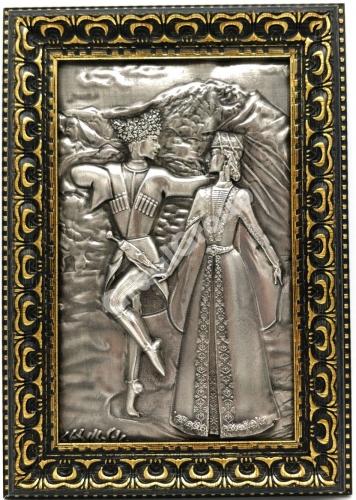 Танцующая пара на Кавказе