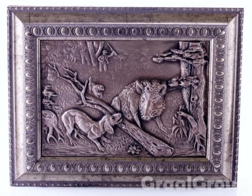 картина «Кабан с таксой»