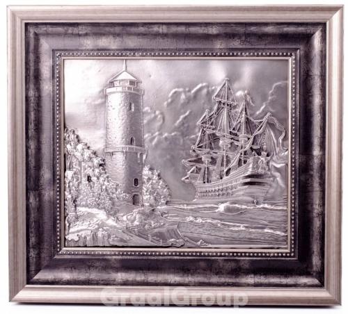 картина «Корабль и Маяк»
